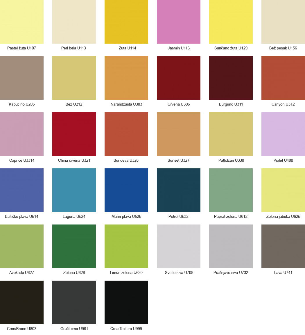 3A dizajn - UNI boje